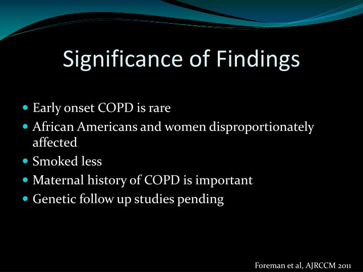 Significance of Findings