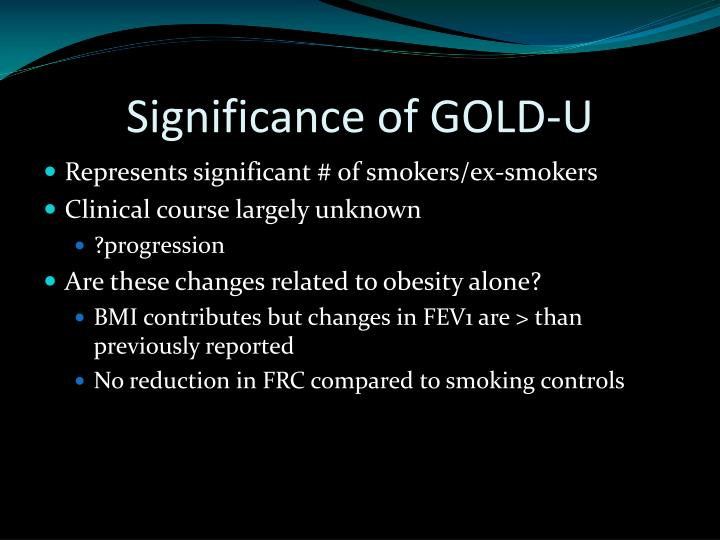 Significance of GOLD-U