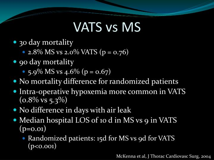VATS vs MS
