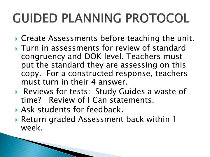 GUIDED PLANNING PROTOCOL