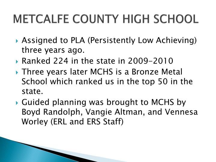 Metcalfe county high school