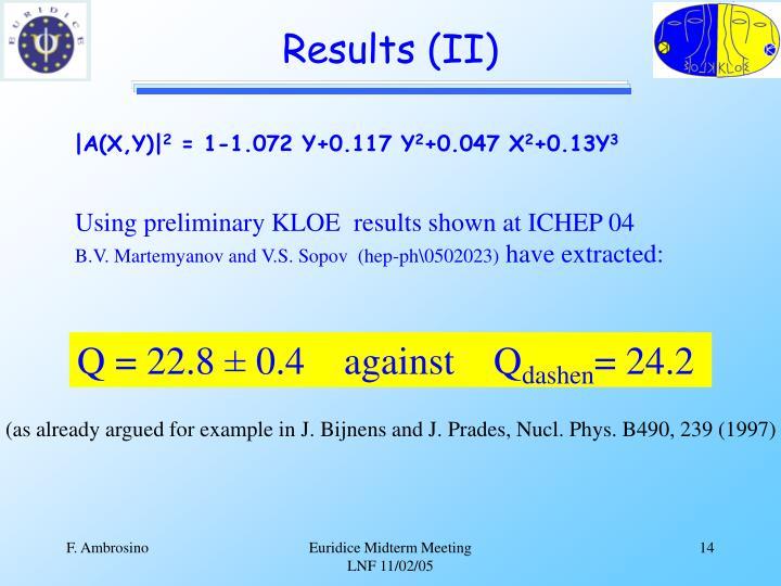 Results (II)
