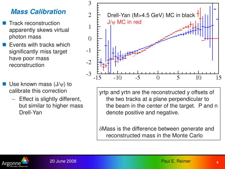 Mass Calibration