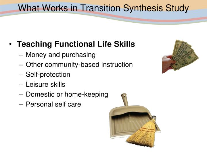 What Works in Transition Synthesis Study