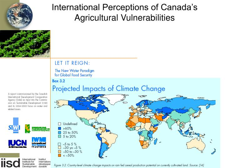 International Perceptions of Canada's Agricultural Vulnerabilities