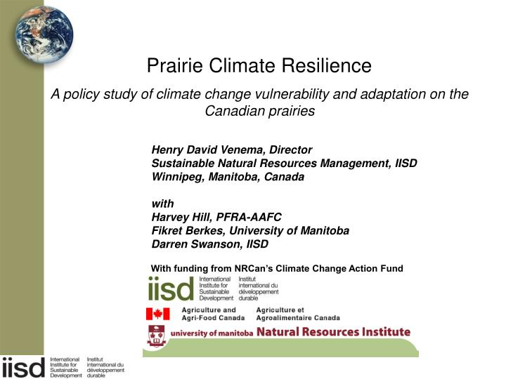 Prairie Climate Resilience