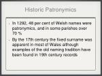 historic patronymics