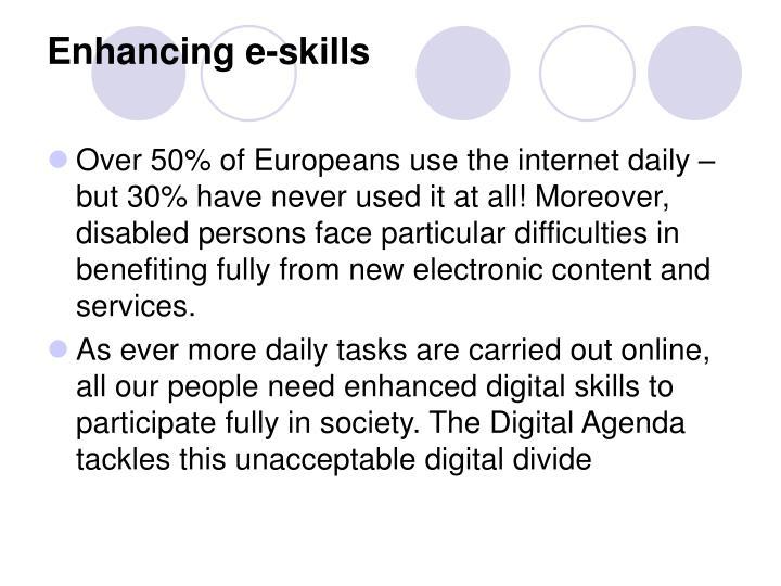 Enhancing e-skills