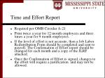 time and effort report