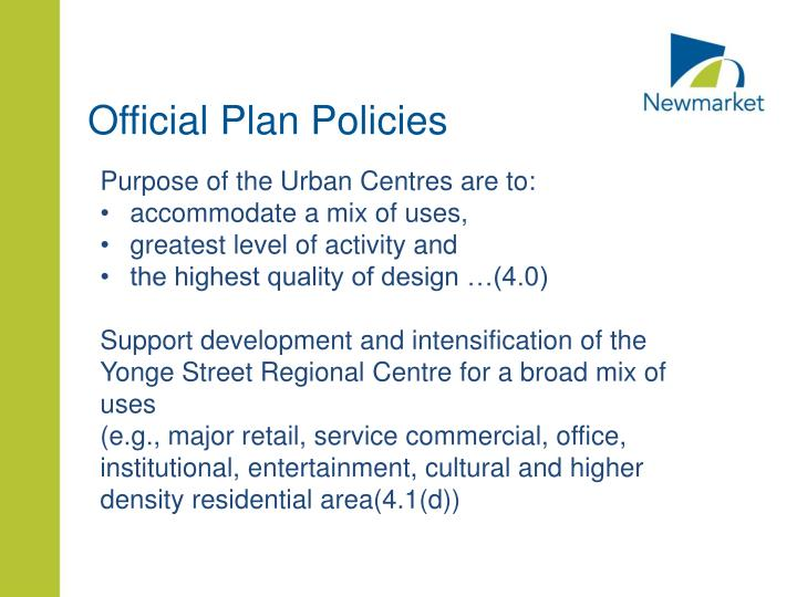 Official Plan Policies
