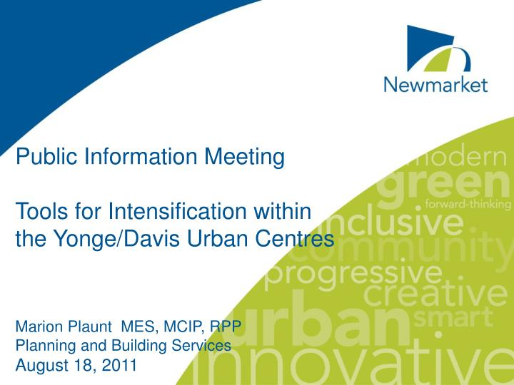 Public Information Meeting