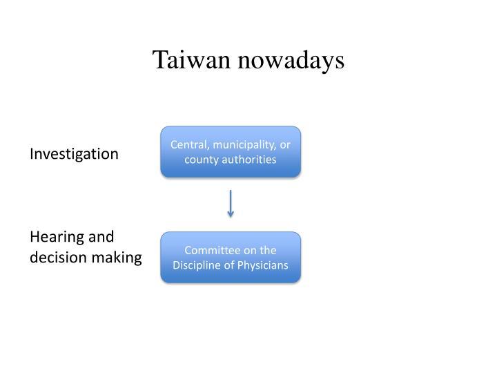 Taiwan nowadays