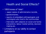 health and social effects1
