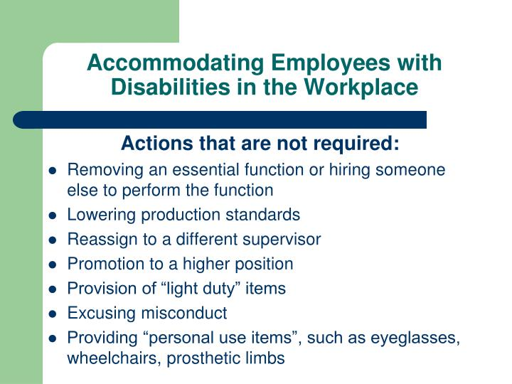 Accommodating Employees with Disabilities in the Workplace