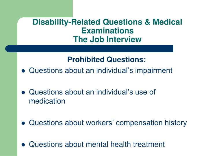 Disability-Related Questions & Medical Examinations
