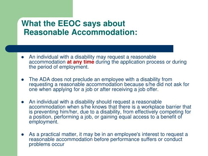 What the EEOC says about