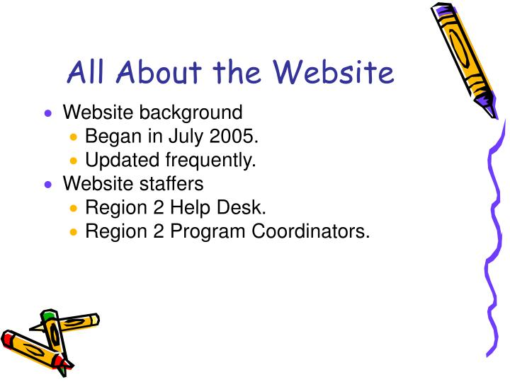 All about the website