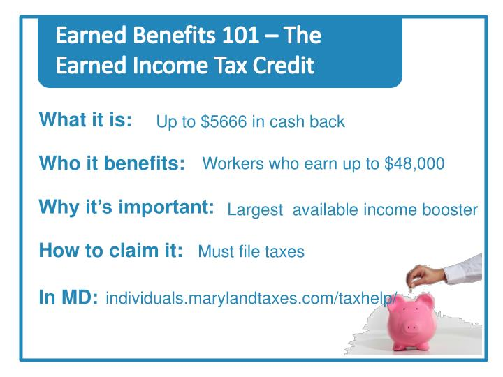 Earned Benefits 101 – The Earned Income Tax Credit