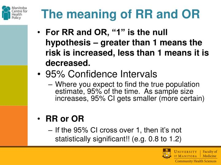 The meaning of RR and OR