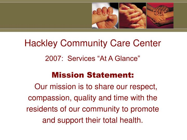 Hackley Community Care Center