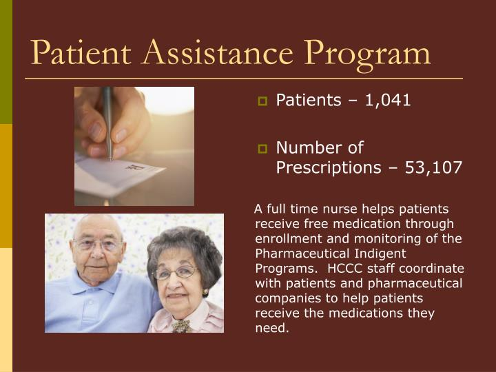 Patient Assistance Program