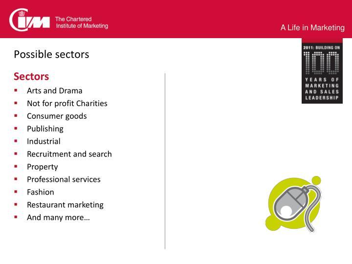 Possible sectors