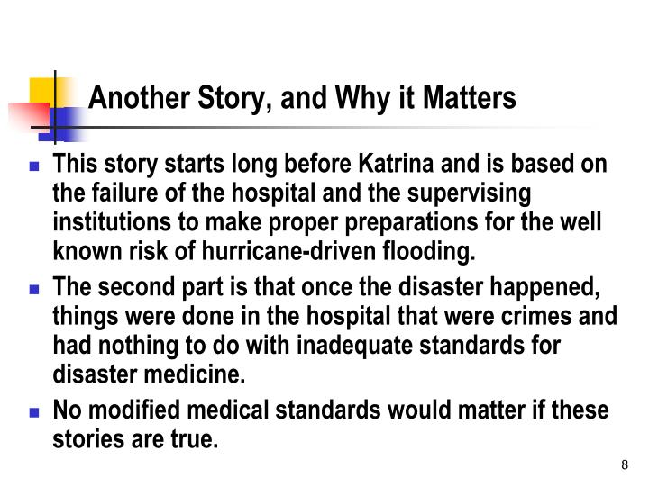 Another Story, and Why it Matters