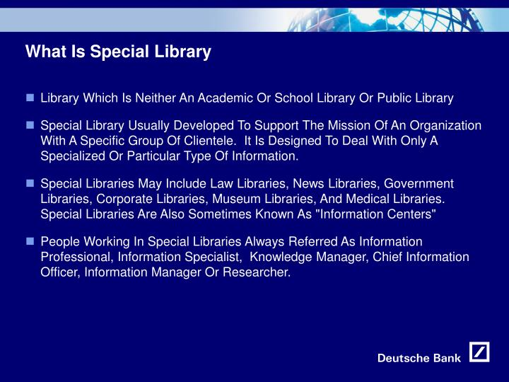What is special library