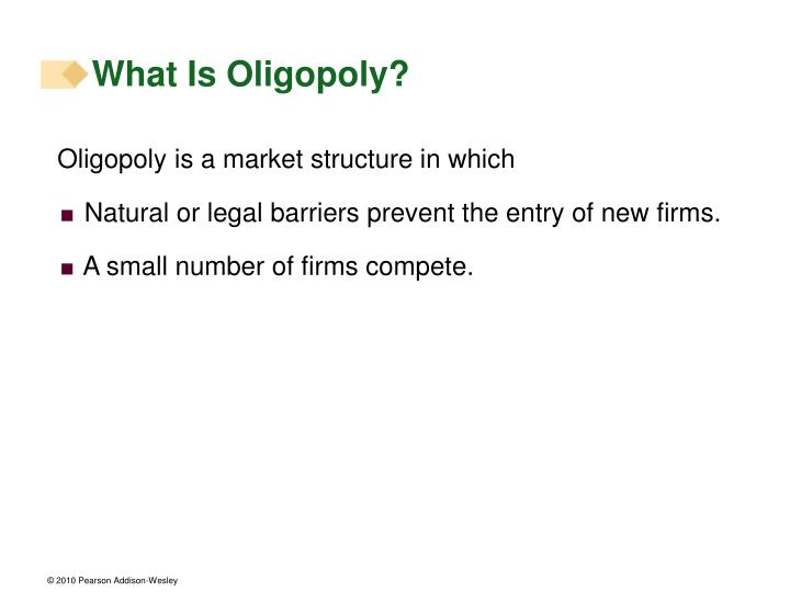 What is oligopoly