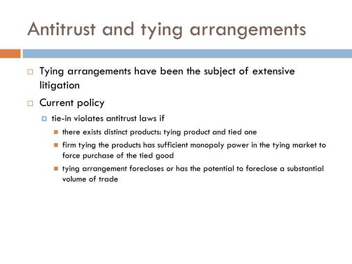 Antitrust and tying arrangements