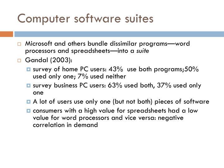 Computer software suites