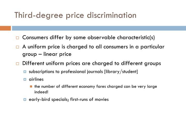 Third degree price discrimination1