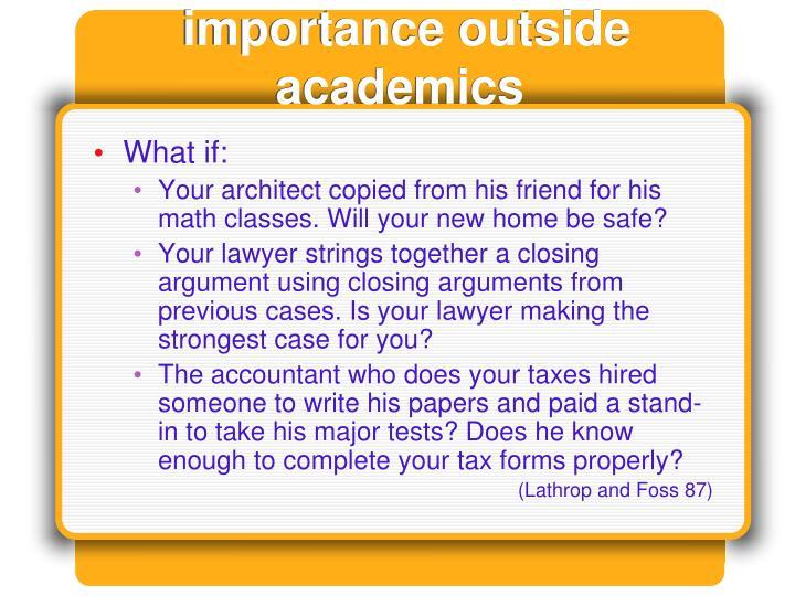 importance outside academics