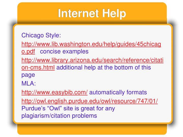 Internet Help