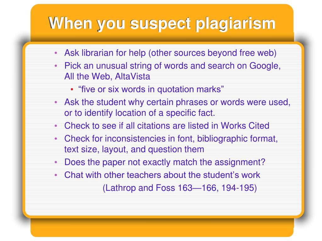 PPT - Avoiding plagiarism and cheating in written ...