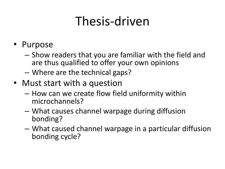 Thesis-driven