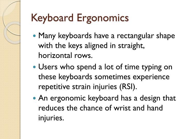 Keyboard Ergonomics