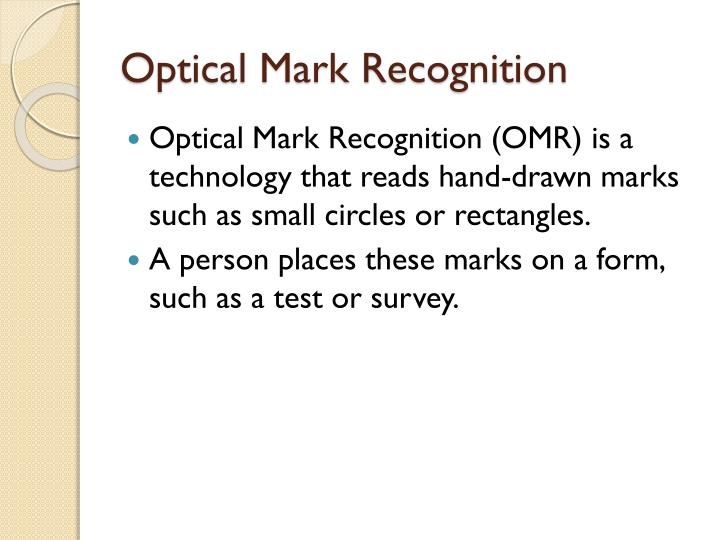 Optical Mark Recognition