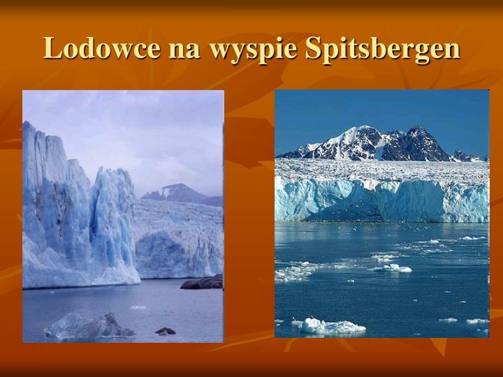 Lodowce na wyspie Spitsbergen