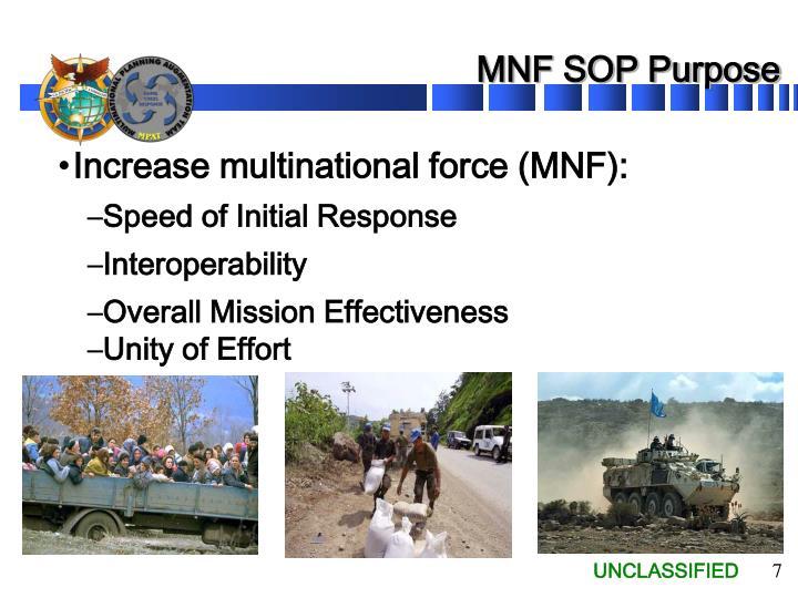 MNF SOP Purpose