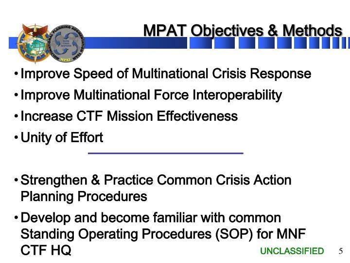 MPAT Objectives & Methods
