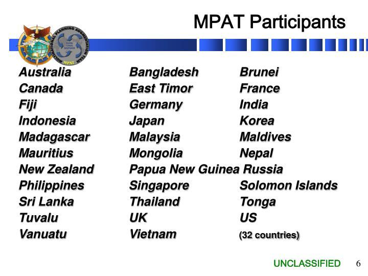 MPAT Participants