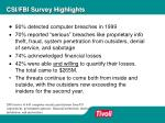 csi fbi survey highlights