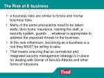 the risk of e business