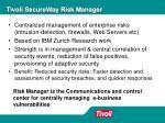 tivoli secureway risk manager1