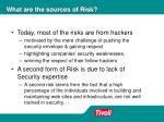 what are the sources of risk