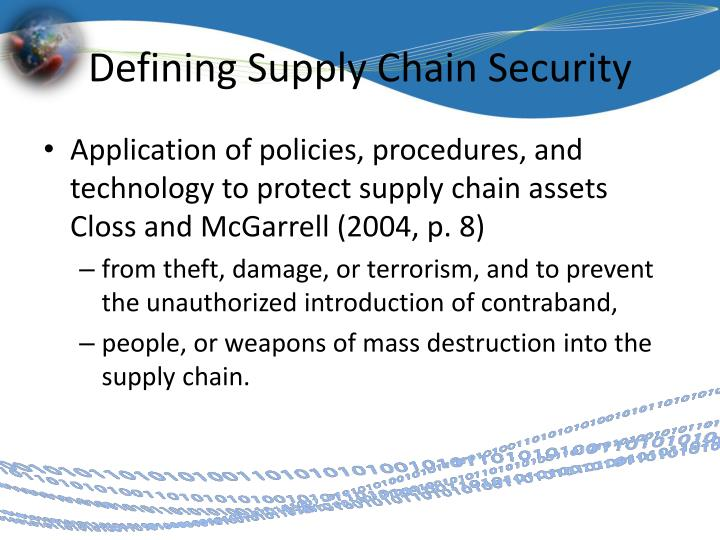 Defining Supply Chain Security