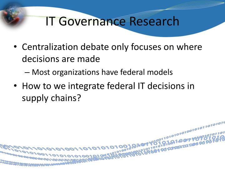 IT Governance Research