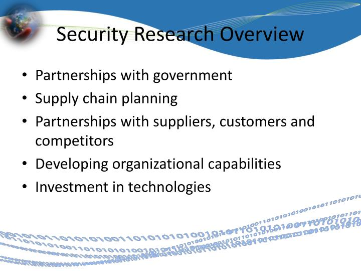 Security Research Overview