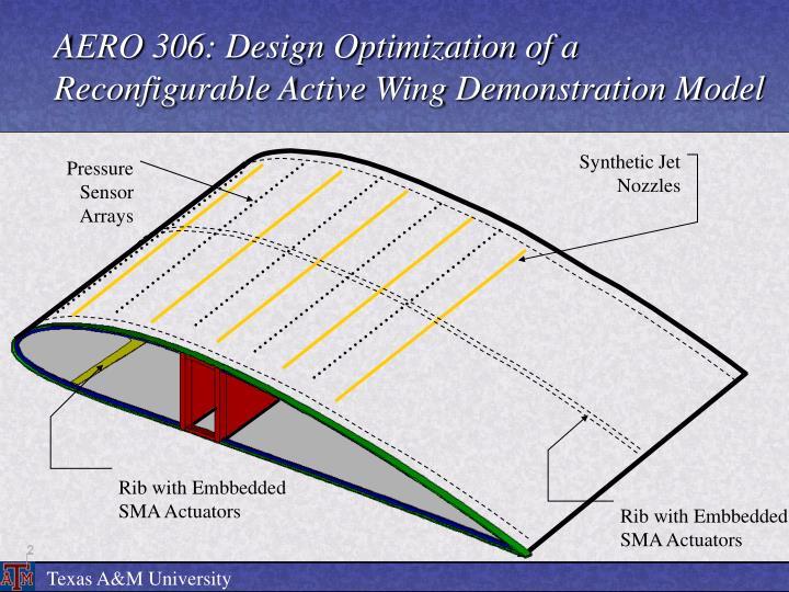 AERO 306: Design Optimization of a Reconfigurable Active Wing Demonstration Model